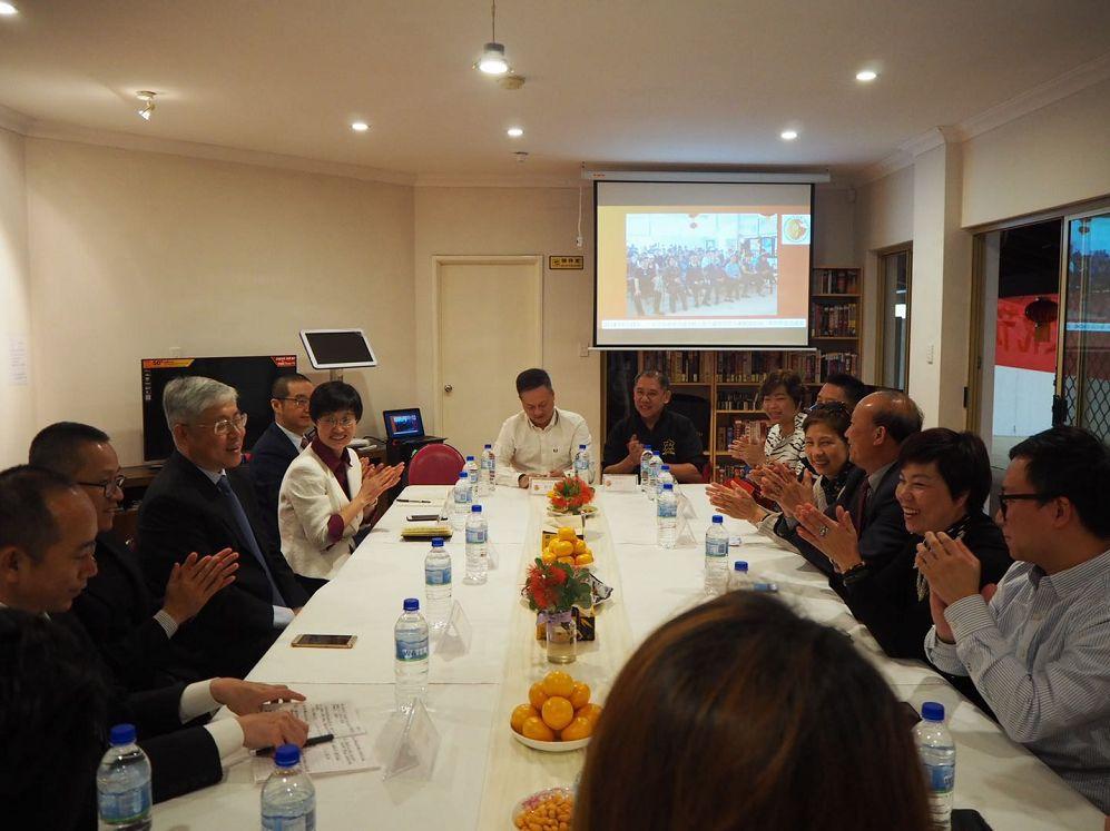 中国侨联代表团莅临广东会馆交流指导外围盘足球工作
