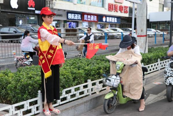 邢台市义工协会(启民义工)定期开展文明交通协勤创城活动纪实