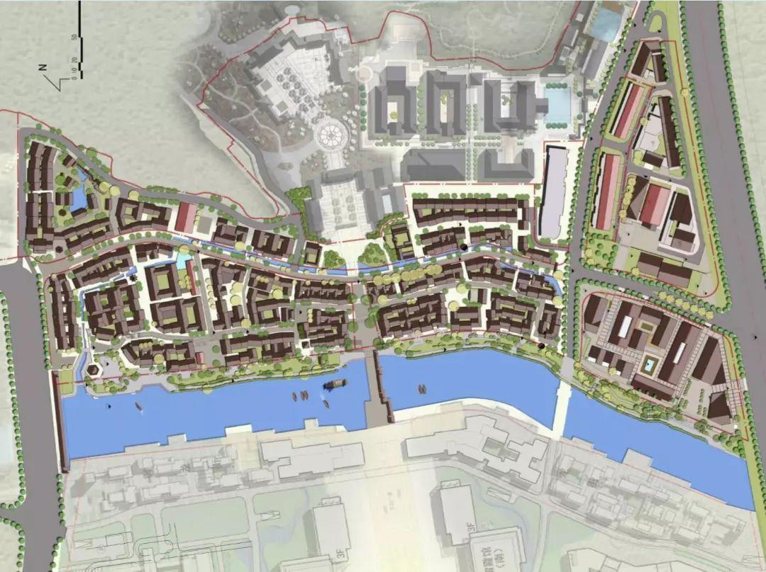栖霞街区城市设计完成,古镇风扇尘封开启的记忆塑料特色叶注塑模具v街区图片