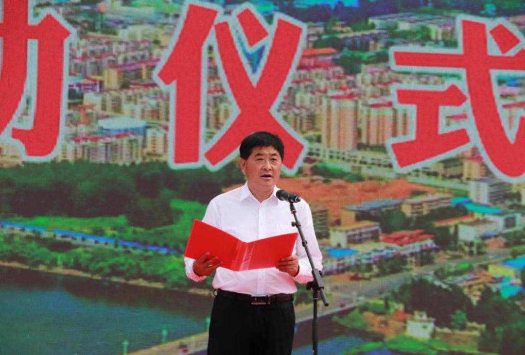 费县县委常委,县委宣传部部长段晓莉女士致辞.