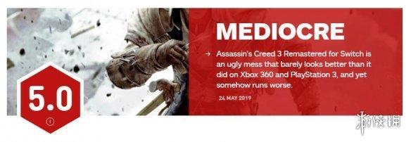 画面太差!《刺客3:重制版》Switch版仅获IGN 5分!