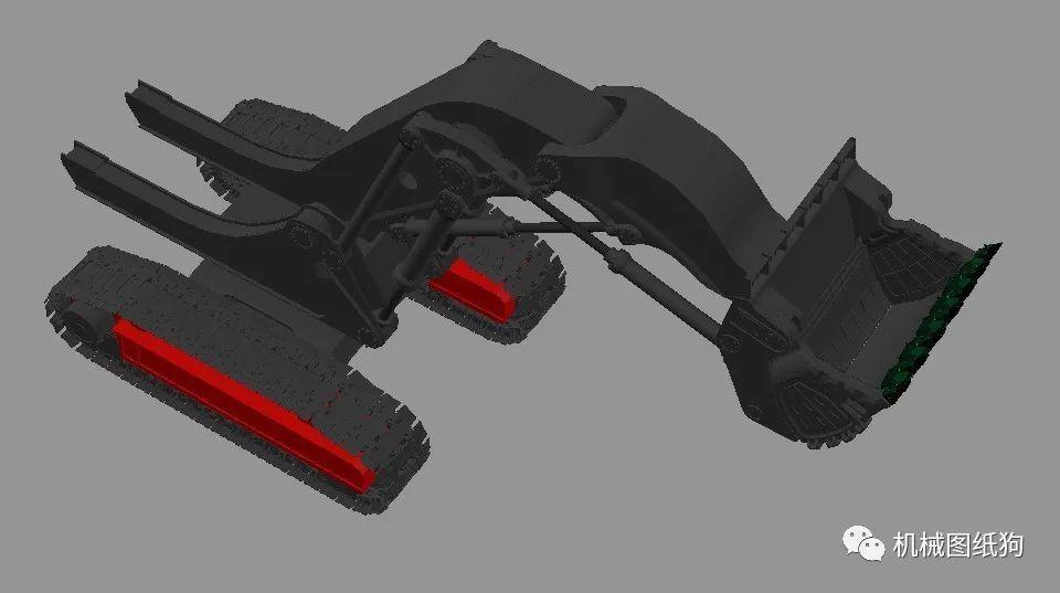 【工程机械】rh400矿用挖掘机矩形3d格式autocadv矩形dwg图纸cad怎么列阵画模型图片