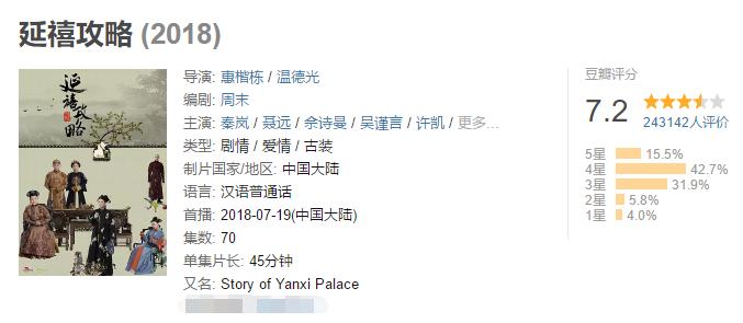 原创《如懿传》在日本播出,译名和《延禧攻略》成大反差,但却很贴切