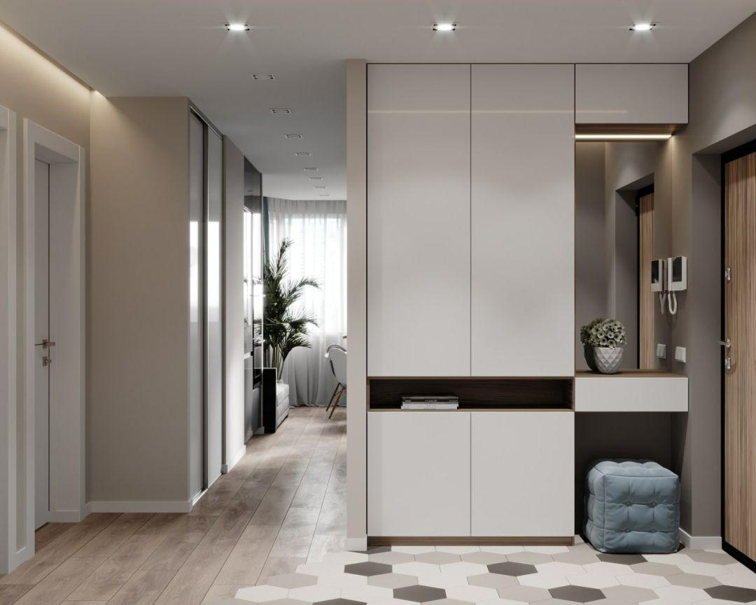 门厅鞋柜+衣柜的设计,实用又上档次,衣帽间都可以省了!