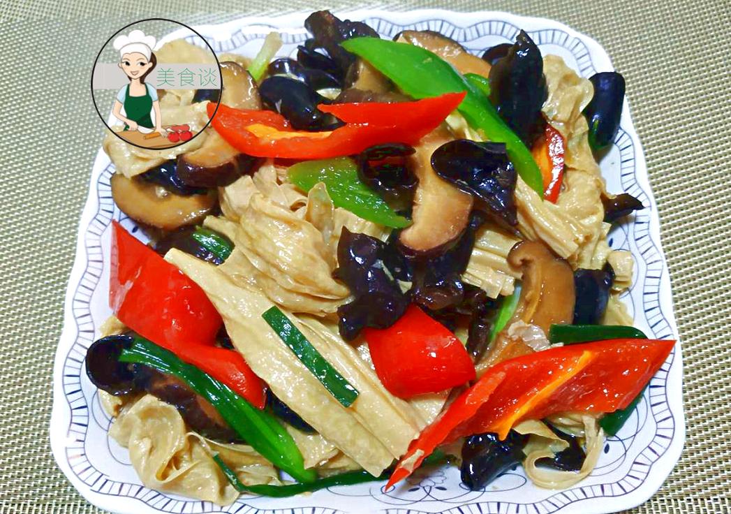 这几样素菜一起炒,鲜香爽口,三天两头来一盘,孩子吃营养又健康_腐竹