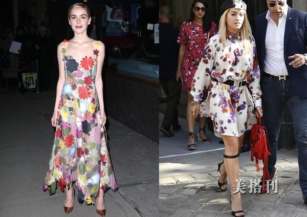 美也需要变着美,印花连衣裙也有不一样时髦款,今夏给你最美造型