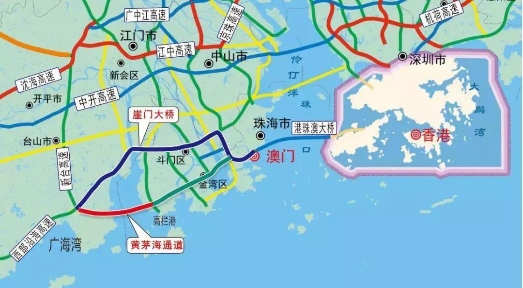 黄茅海大桥明年动工!双向六车道!它将连接江门这些地方……