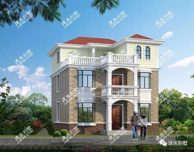 大胆创别墅才会大栋_开间9米多的两栋三层别墅,主体造价26-30万左右