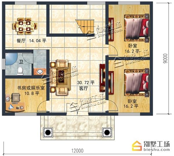 多款120平方房子设计图,一层,二层,三层,四层别墅随选