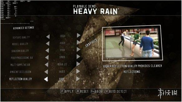 PC版《暴雨》RTX 2080Ti显卡评测 最高画质截图赏!