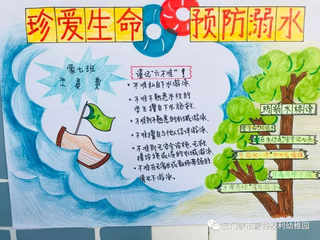 防溺水作为夏日的必修课,通过家长朋友和孩子们用手中的画笔,创作防