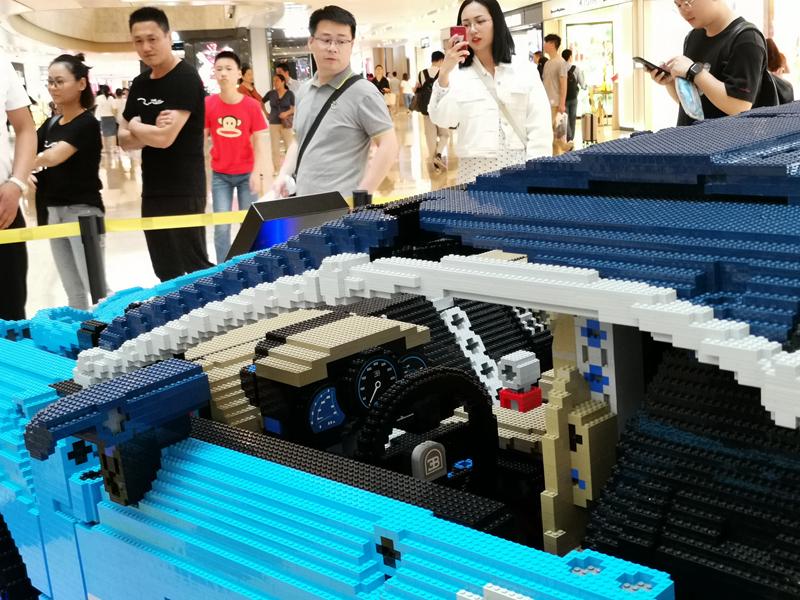 23万块乐高积木拼出布加迪超跑亮相南京