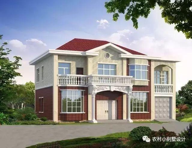 农村二层自建房设计,带旋转楼梯设计,第二栋还有地下室,外墙配色好特别