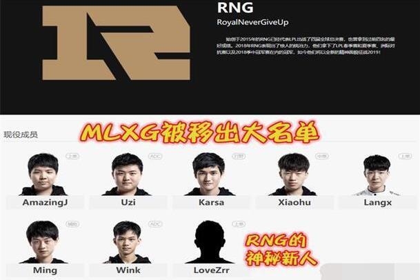 MLXG退役被实锤,RNG面临队员调整问题