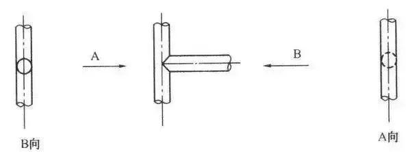 双线管道分支的画法