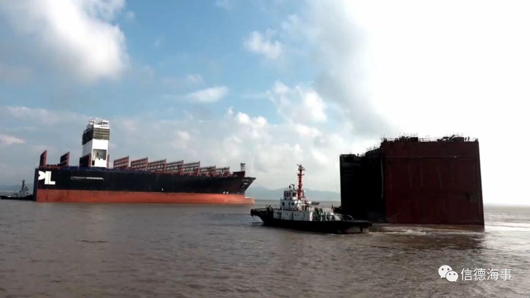 """牛!大型箱船被""""斩""""断,再加长29米!中国船厂做到了!"""