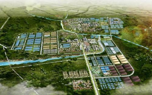 市北开发区规划布局效果图.
