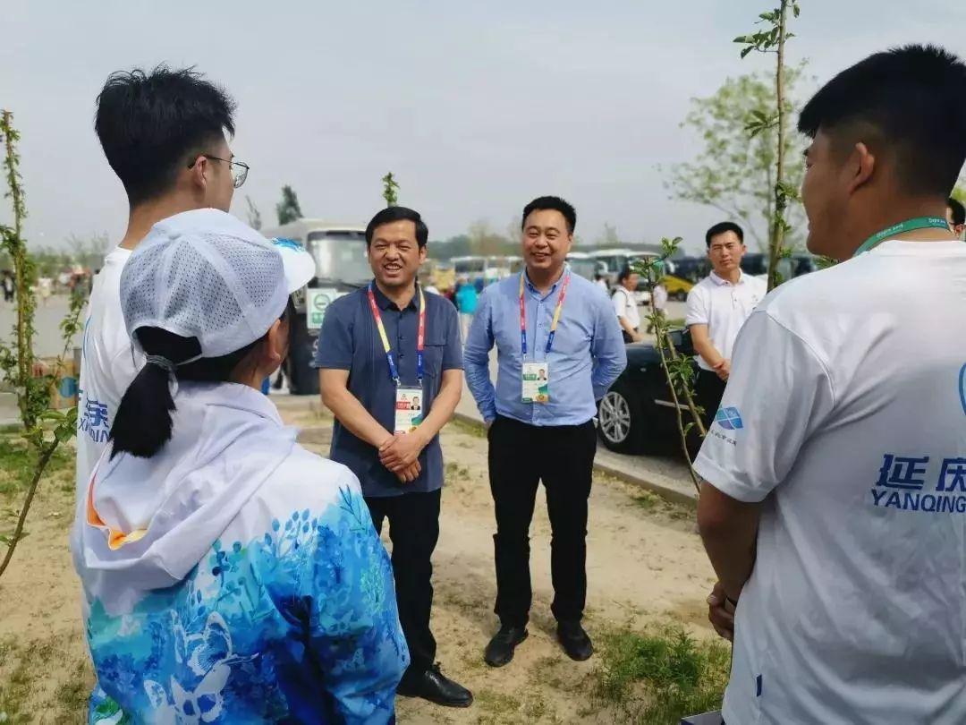 延庆区委副书记李军会同志慰问北邮世纪世园会志愿者