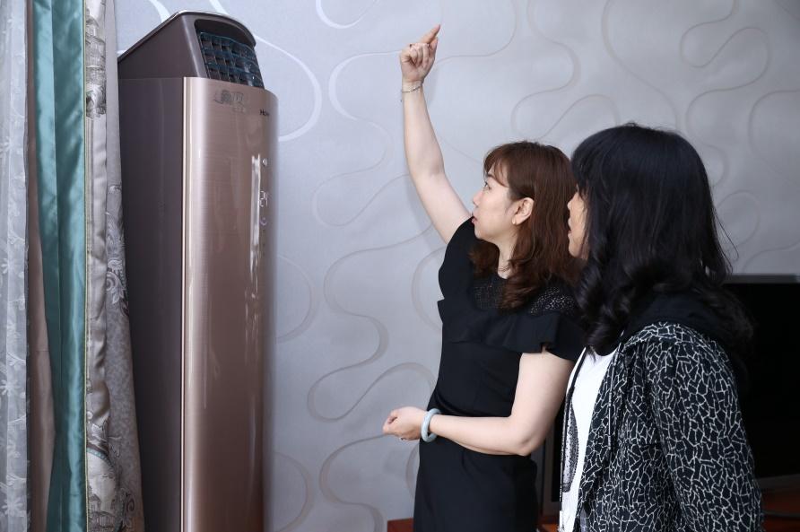 国潮家电节:韩国家庭为红木家具一次购9台海尔新风空调,红木家具,新风,海尔,空调,一次