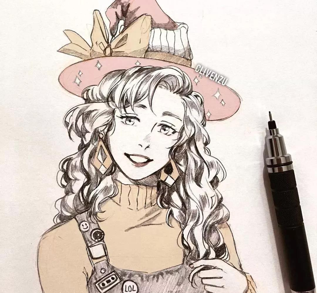 铅笔手绘动漫人物