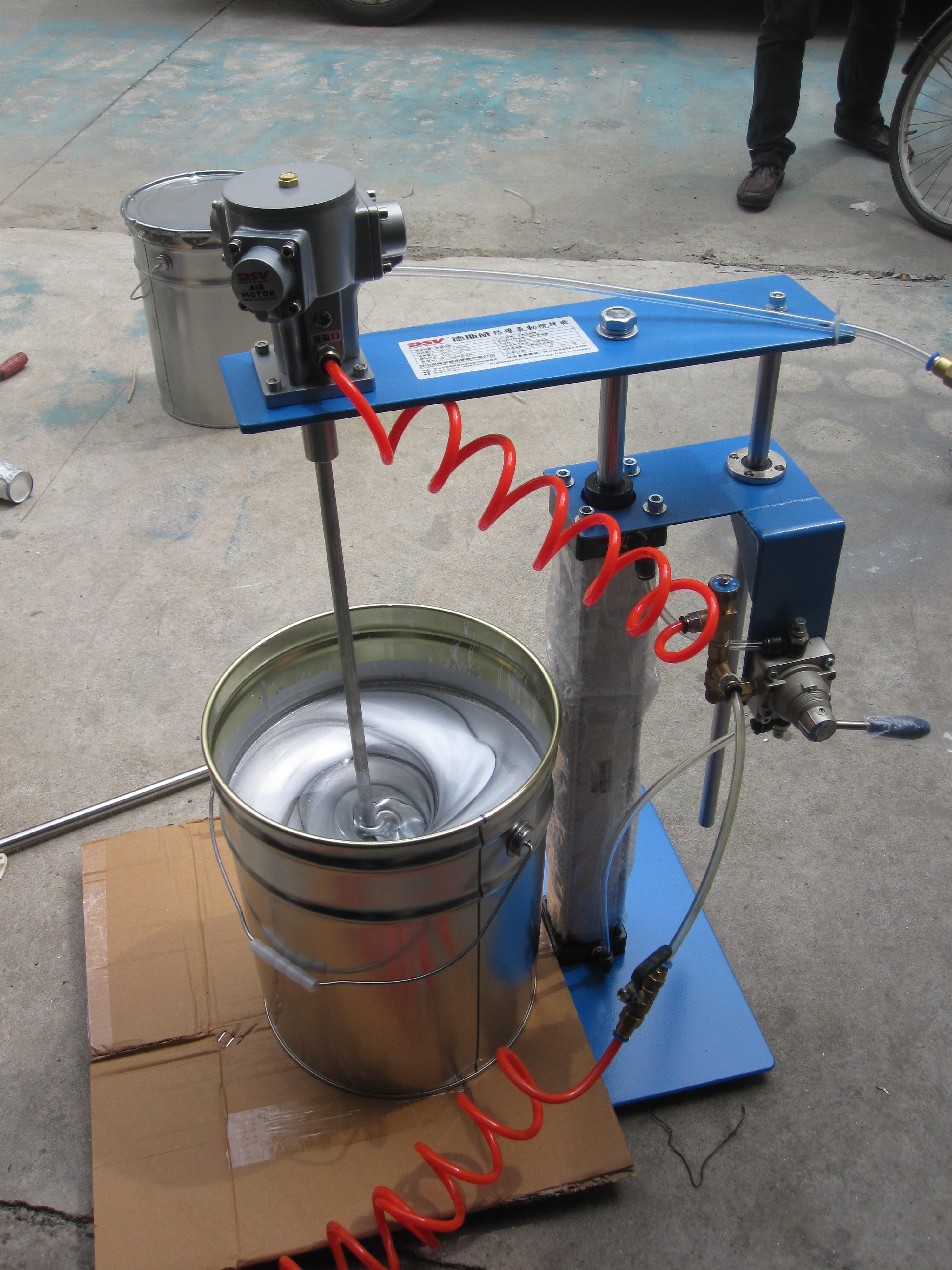德斯威气动马达100l气动搅拌机图片