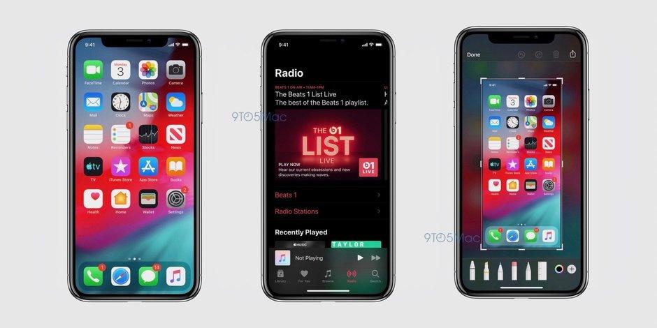 iOS 13先睹为快!黑暗模式长这样,设计风格出现巨变
