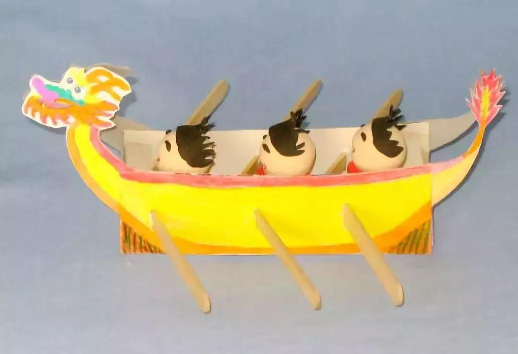 手工制作船 简单过程