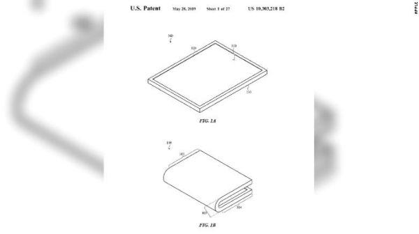 折叠屏专利到手 分析师称苹果折叠屏手机或于2020年面世