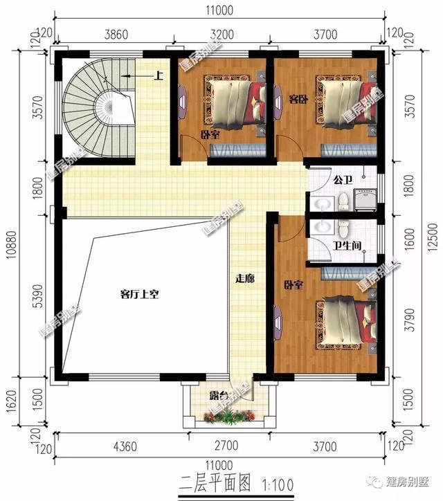 四室三厅楼房设计图 平面图