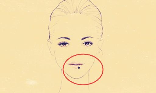 4.下嘴唇长痣图片