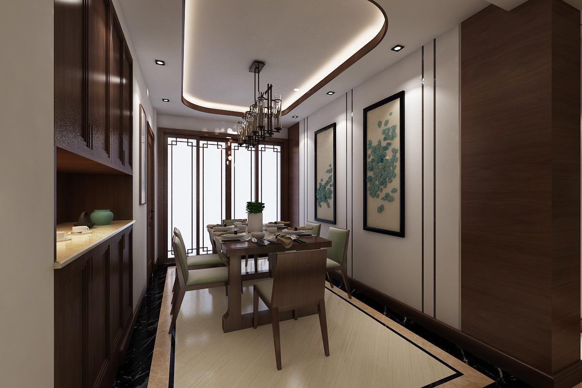 大连装修公司-半山悦景-新中式装修效果图-177平