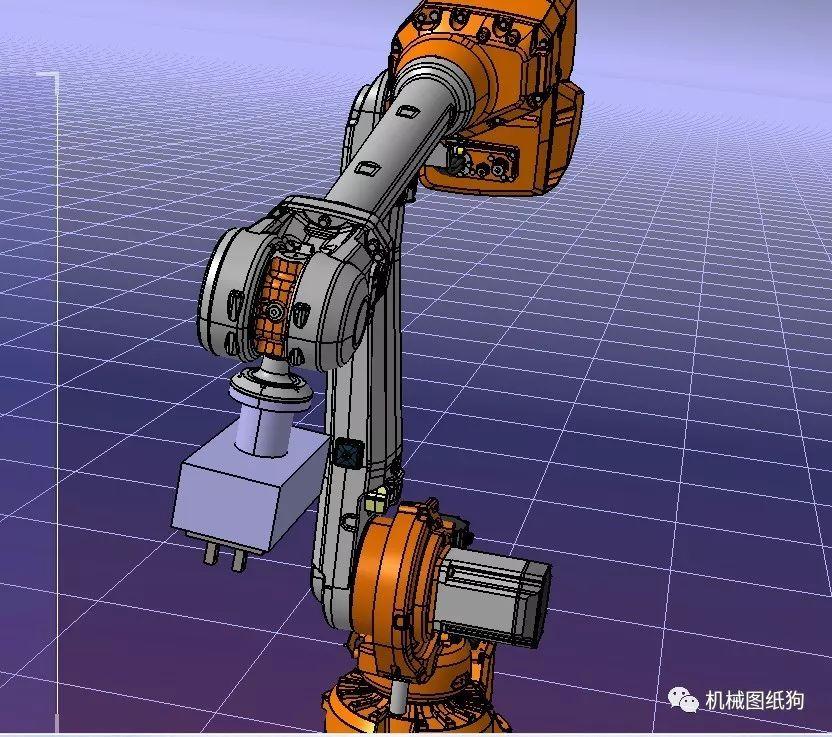 【机器人】六轴抓取机器人3d数模图纸 step格式图片
