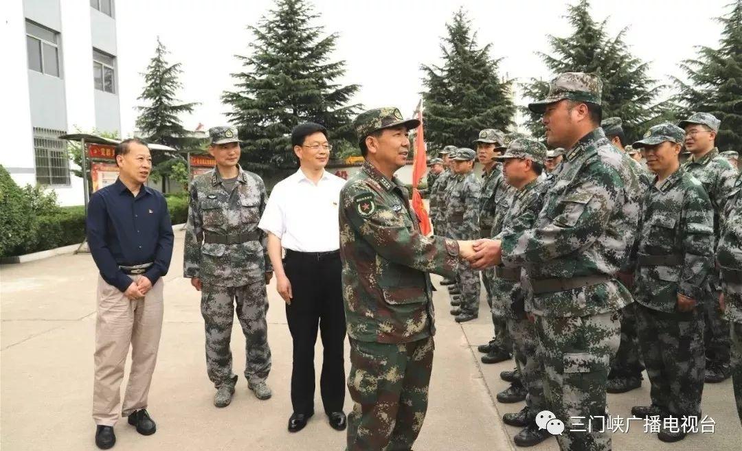 三门峡军分区检查组到渑池县进行民兵整组点验