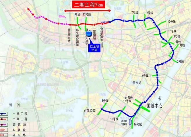 武汉地铁3号线站点_武汉地铁6号线二期工程公示了,高清线路图,站点走向一览_金山 ...