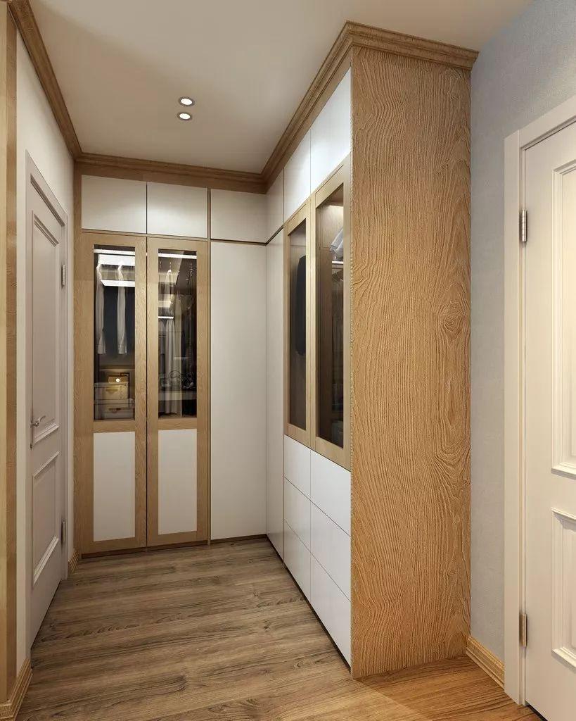 房产 正文  l型衣帽间是卧室中非常常见的一种设计形式,可以将空间图片
