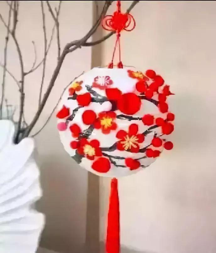 【创意手工】制作淡雅高贵的梅花手工,灯笼,装饰,头饰