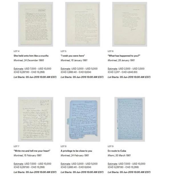 """""""给你写信很难?#20445;?#33713;纳德·科恩给玛丽安的情书将拍卖"""