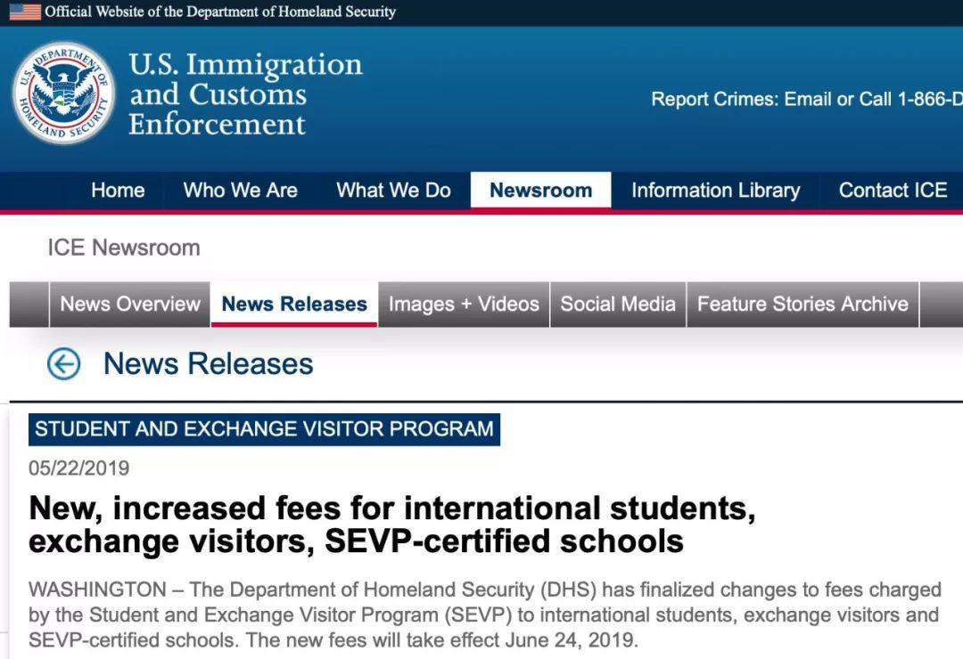 美国国土安全部宣布:下月赴美部分签证申请费暴涨!