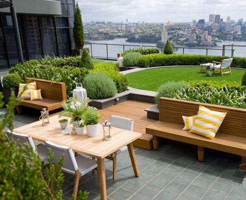 南京顶楼花园装修设计 促进屋顶绿化行业发展的策略动力