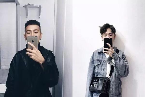 镜子拍照,让手机遮住自己的半张脸不但神秘还有种厌世感,让整张照片