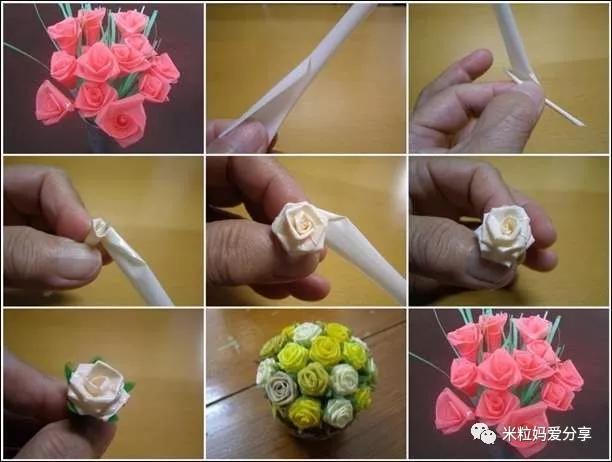 有了吸管花朵,还可以用吸管diy花盆哦,简单又实用.