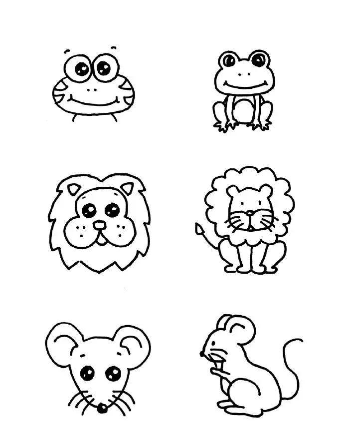 简笔画 一组动物简笔画系列