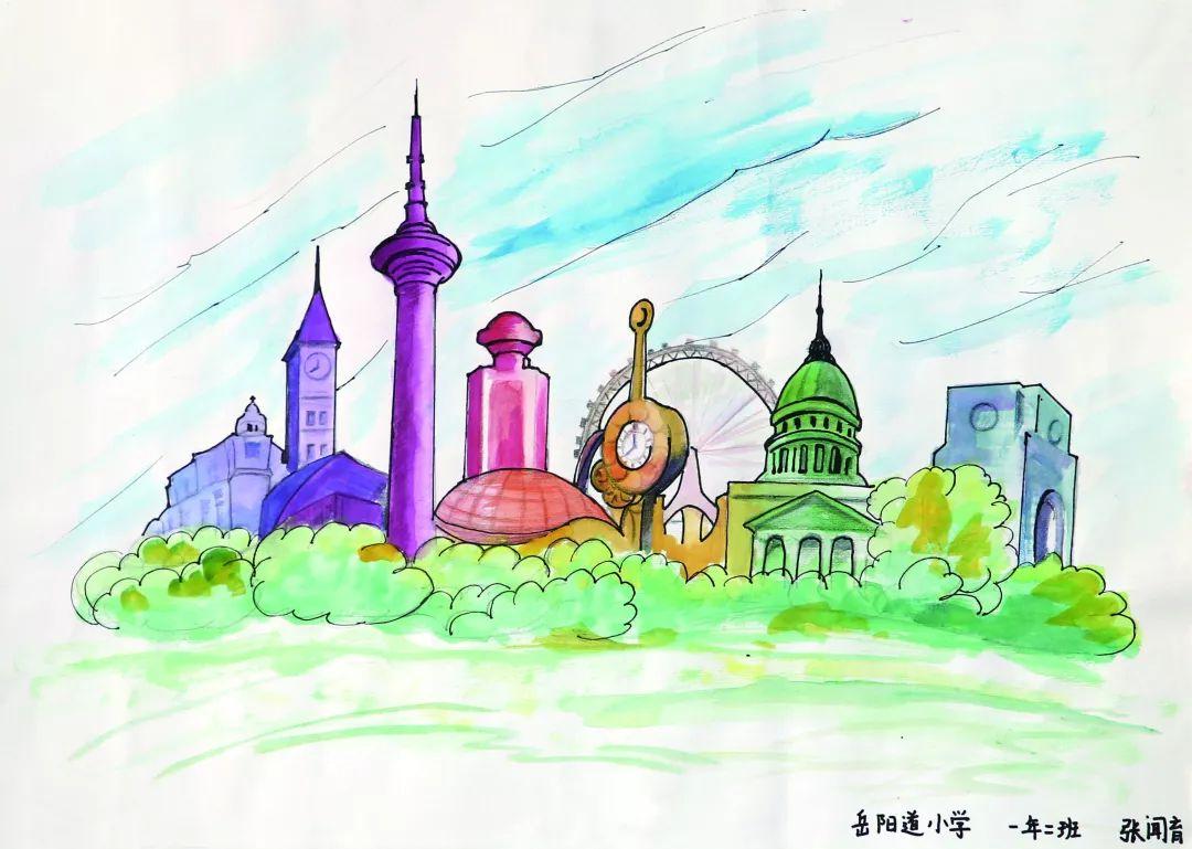 古城印象儿童画