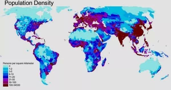 世界人口密集度排名_地图看世界 世界上最小的洲 大洋洲的趣知识 太平洋