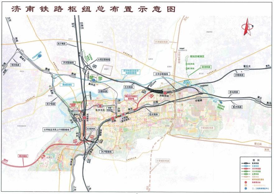 """济南铁路枢纽总图规划获批 2030年形成""""米""""字高铁网"""