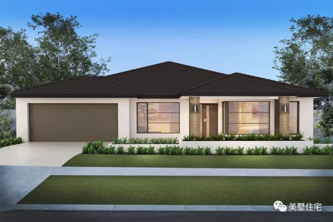 18栋现代风格的一层别墅,光看屋顶就很喜欢,回头率100效果图别墅八角图片