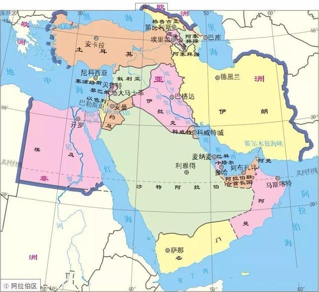 原创世界火药桶中东地区,有着优越的地理位置,也有着错综复杂的矛盾图片