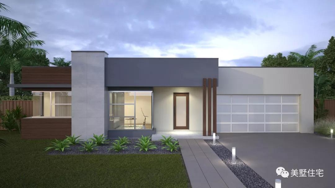 18栋现代风格的一层别墅,光看青竹就很喜欢,回头率100园别墅效果图片