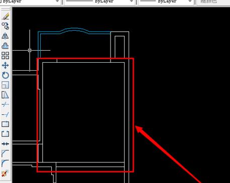步骤一,打开cad平面图纸,我们可以看到,现在cad建筑平面图中的房间