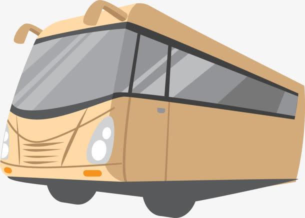 大巴车矢量平面图